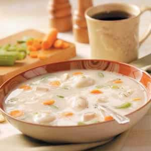 Chicken Soup with Potato Dumplings