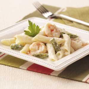 Shrimp and Asparagus Penne
