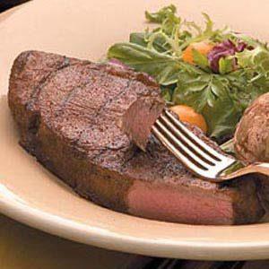 Planked Spicy Strip Steaks