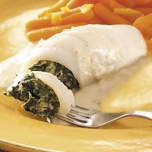 Creamy Spinach Stuffed Flounder