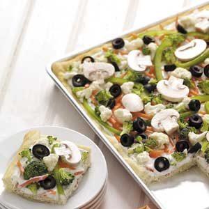 Makeover Veggie Pizza Squares