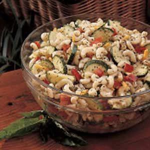 Macaroni Salad with Basil Dressing