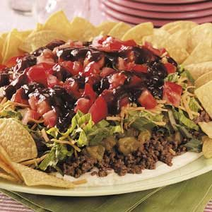 Barbecue Beef Taco Plate