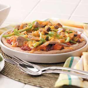 Barbecue Chicken Pita Pizzas