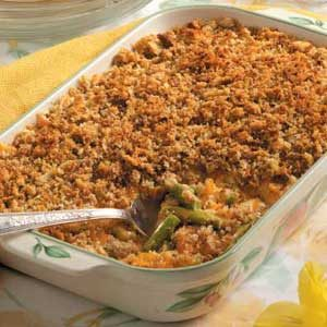 Crumb-Topped Asparagus Casserole