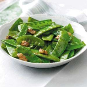 Snow Pea and Walnut Stir Fry