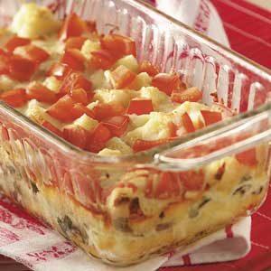 Mozzarella Vegetable Strata