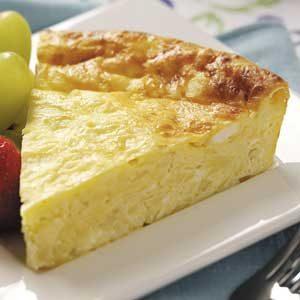 Crustless Four-Cheese Quiche
