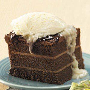 Chocolate Cake with Coconut Sauce