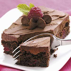 Truffle Raspberry Brownies