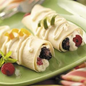 Breakfast Crepes with Berries