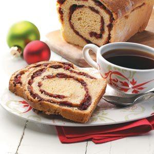 Cranberry-Swirl Cornmeal Loaves