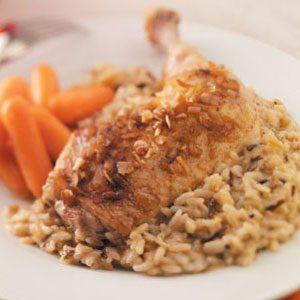 Golden Chicken with Rice