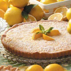 Tangy Lemon-Nut Tart