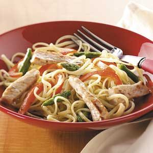 Pork Linguine Toss
