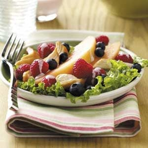 Fruity Chicken Salad with Raspberry Dressing
