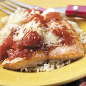 Tomato Salmon Bake