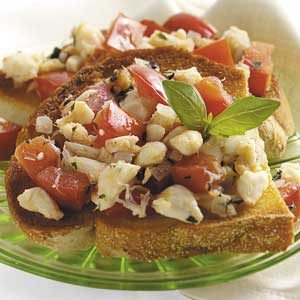 Crab Bruschetta