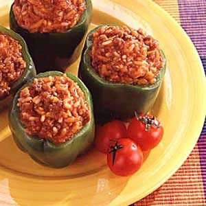 Simple Stuffed Green Peppers