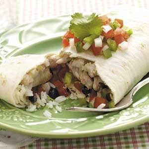 Black Bean Pork Burritos