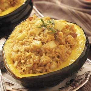 Rice-Stuffed Acorn Squash