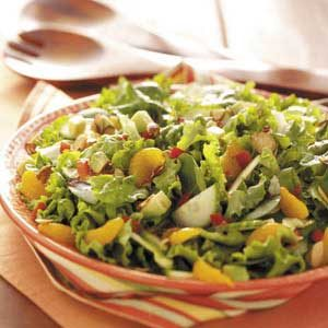 Almond-Avocado Tossed Salad