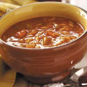 Tomato-Basil Orzo Soup