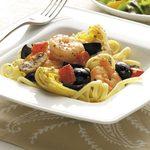 Mediterranean Shrimp and Linguine