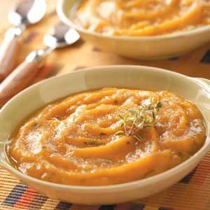 Roasted Garlic and Sweet Potato Soup