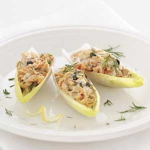 Salmon Salad-Stuffed Endive Leaves