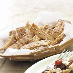 Garlic-Sesame Pita Chips
