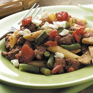 Greek-Style Beef Supper