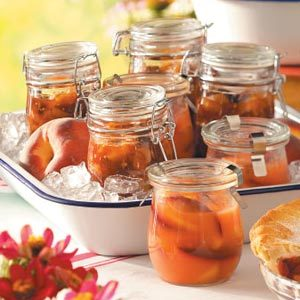 Gingered Peach Chutney