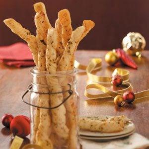 Italian Garlic Parmesan Breadsticks