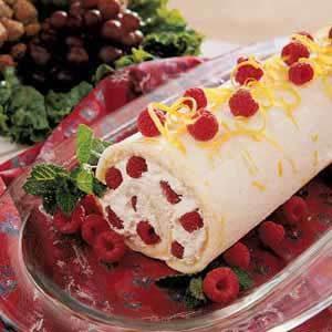 Raspberry Cake Roll