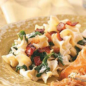 Creamy  Spinach Noodle Toss