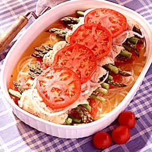 Chicken/Asparagus Roll-Ups