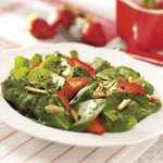 Strawberry Spinach Salad with Raspberry Dressing