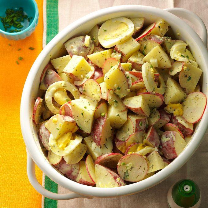 Tangy Potato Salad with Radishes