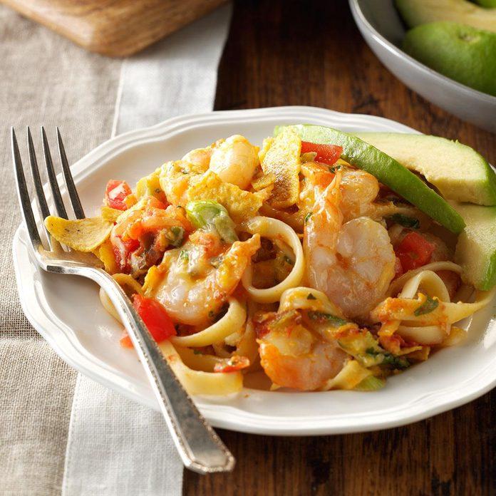 Fettuccine Shrimp Casserole