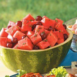 Watermelon Grape Tarragon Salad