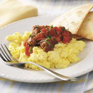 Scrambled Eggs with Chorizo