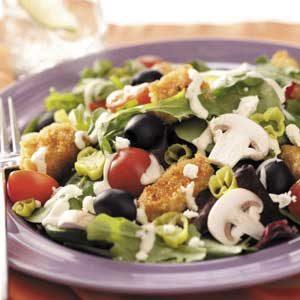Greek Chicken Tossed Salad