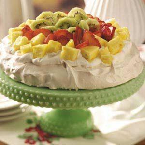 Pineapple-Strawberry-Kiwi Pavlova
