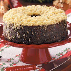 Danish Christmas Cake with Orange Coconut Topping