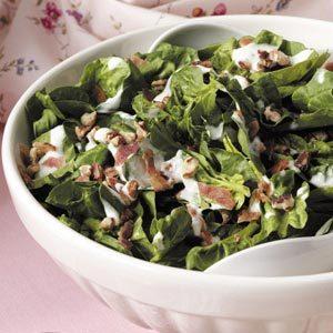 Horseradish Spinach Salad