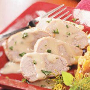 Pork Tenderloin with Cream Sauce