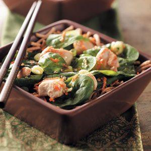 Asian Spinach Chicken Salad