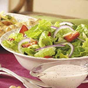Strawberry, Onion and Romaine Salad