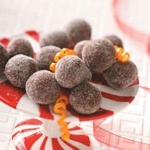 Dark Chocolate Orange Truffles